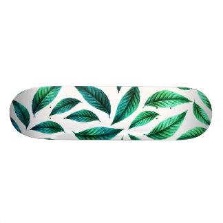 Tropical Foliage Pattern Skateboard Deck
