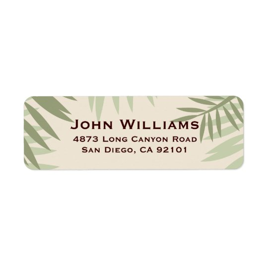 Tropical Foliage Return Address Label