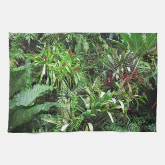 Tropical Forest Flora Background Kitchen Towel