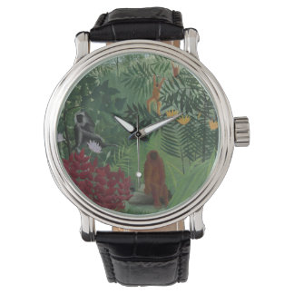 Tropical Forest With Monkeys Rousseau Watch