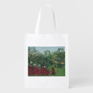 Tropical Forest with Monkeys Tote