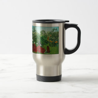 Tropical Forest with Monkeys Travel Mug