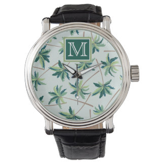 Tropical Foxtail Palm | Add Your Initial Wristwatches