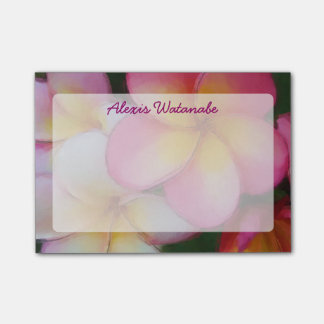 Tropical Frangipani Plumeria Beach Flowers Post-it® Notes