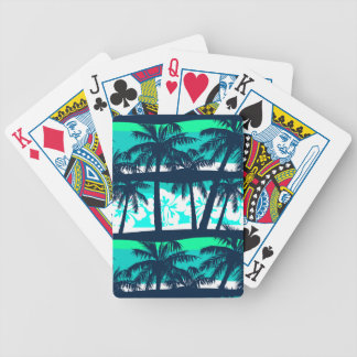 Tropical frangipani with palms bicycle playing cards