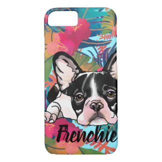 Tropical French Bulldog (Add Your Pet's Name) iPhone 8/7 Case