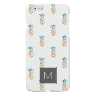 tropical fresh summer faux gold pineapple pattern