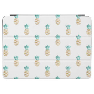 tropical fresh summer faux gold pineapple pattern iPad air cover