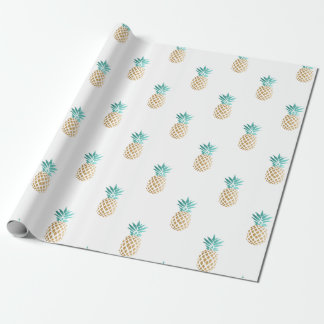 tropical fresh summer gold foil pineapple pattern