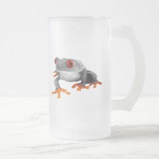 Tropical Frog Mug..! Frosted Glass Beer Mug