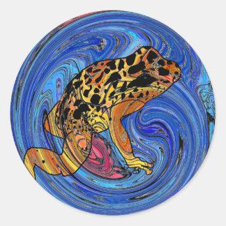 Tropical Frog Round Sticker