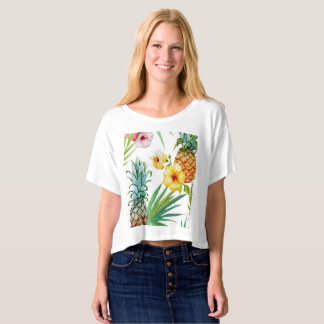 Tropical Fruit and Flowers Crop Top