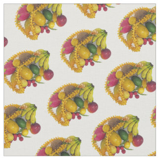 Tropical Fruit and Lei Fabric