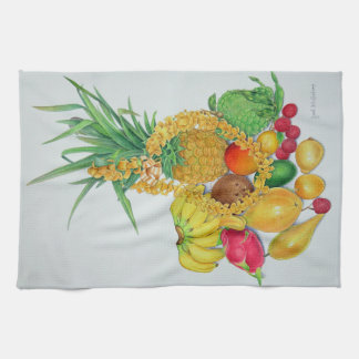 Tropical Fruit and Lei Kitchen Towel