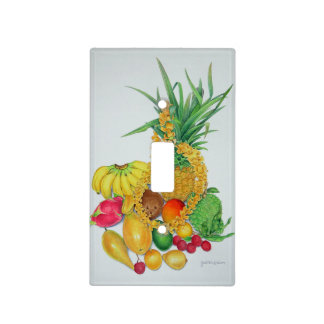 Tropical Fruit and Lei Light Switch Cover