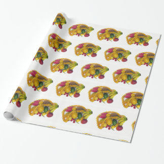 Tropical Fruit and Lei Wrapping Paper