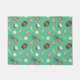 Tropical Fruit Doodle Pattern Doormat