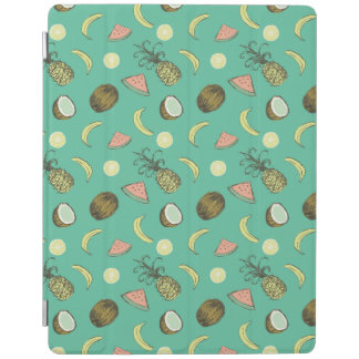 Tropical Fruit Doodle Pattern iPad Cover