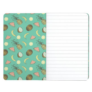 Tropical Fruit Doodle Pattern Journal
