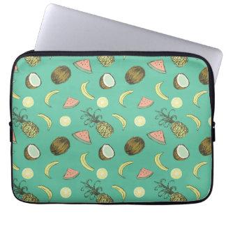 Tropical Fruit Doodle Pattern Laptop Sleeve