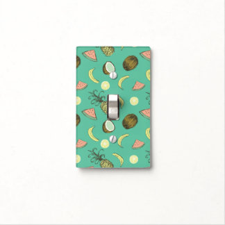 Tropical Fruit Doodle Pattern Light Switch Cover