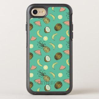 Tropical Fruit Doodle Pattern OtterBox Symmetry iPhone 8/7 Case