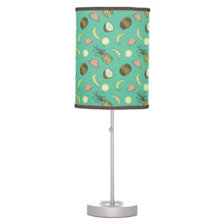 Tropical Fruit Doodle Pattern Table Lamp