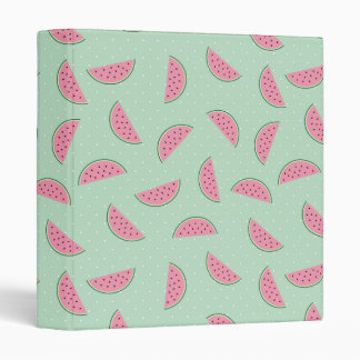 Tropical Fruit Paint Splatter Pattern 3 Ring Binder
