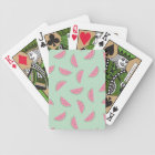 Tropical Fruit Paint Splatter Pattern Bicycle Playing Cards