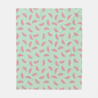 Tropical Fruit Paint Splatter Pattern Fleece Blanket