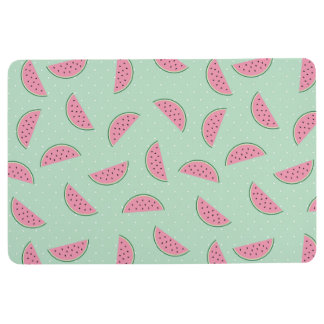 Tropical Fruit Paint Splatter Pattern Floor Mat