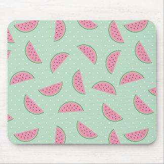 Tropical Fruit Paint Splatter Pattern Mouse Pad