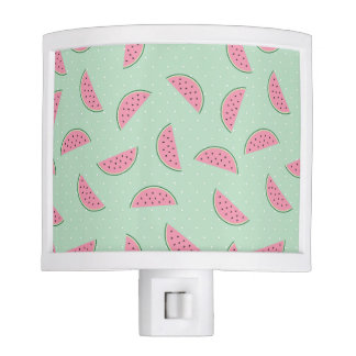 Tropical Fruit Paint Splatter Pattern Night Light