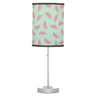 Tropical Fruit Paint Splatter Pattern Table Lamp