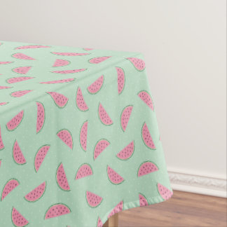 Tropical Fruit Paint Splatter Pattern Tablecloth