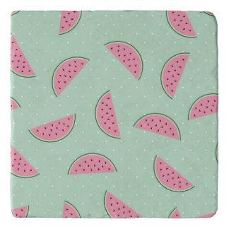 Tropical Fruit Paint Splatter Pattern Trivet