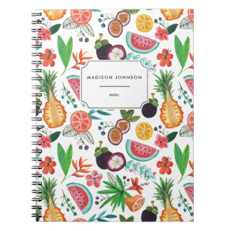 Tropical Fruit Pineapple Flowers | Photo Notebook