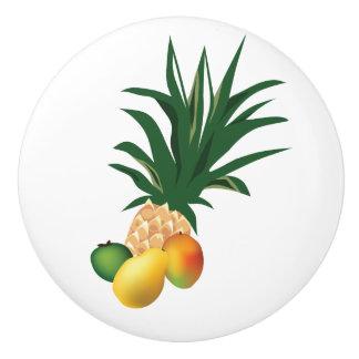 Tropical Fruit Pineapple Tiki Bar Door Knob