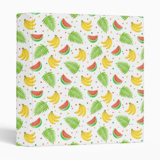 Tropical Fruit Polka Dot Pattern 3 Ring Binder