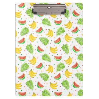 Tropical Fruit Polka Dot Pattern Clipboard
