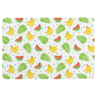 Tropical Fruit Polka Dot Pattern Floor Mat