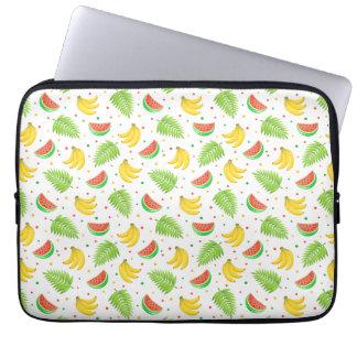 Tropical Fruit Polka Dot Pattern Laptop Sleeve