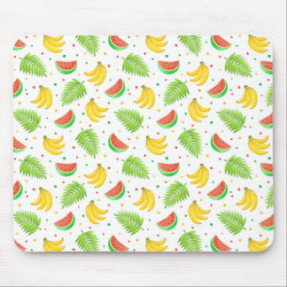 Tropical Fruit Polka Dot Pattern Mouse Pad