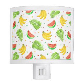 Tropical Fruit Polka Dot Pattern Nite Light