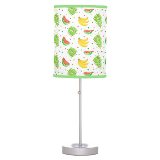 Tropical Fruit Polka Dot Pattern Table Lamp