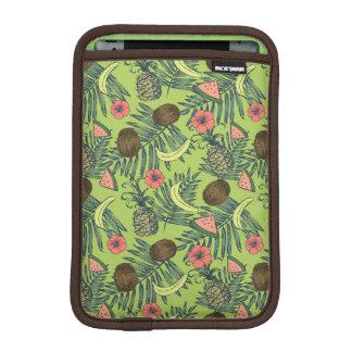 Tropical Fruit Sketch on Green Pattern iPad Mini Sleeve