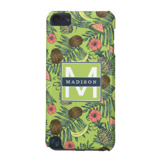 Tropical Fruit Sketch on Green Pattern iPod Touch 5G Cover