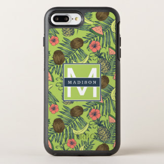Tropical Fruit Sketch on Green Pattern OtterBox Symmetry iPhone 8 Plus/7 Plus Case