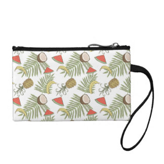 Tropical Fruit Sketch Pattern Coin Purse