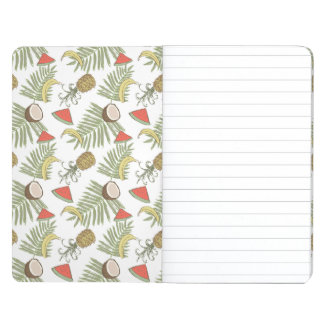 Tropical Fruit Sketch Pattern Journal
